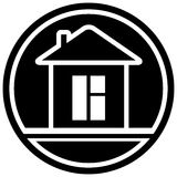 Icon with home and window Stock Photography
