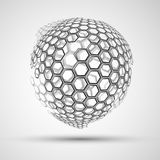 Icon honeycomb  Abstract background hexagon. Abstract background Icon honeycomb hexagon and honey Royalty Free Stock Photography