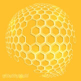 Icon honeycomb  Abstract background hexagon. Abstract background Icon honeycomb hexagon and honey Stock Photography