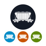 Icon  hopper car  for transportation  freights , Royalty Free Stock Photo
