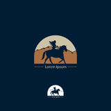 Icon for horse breeders and riding schools Royalty Free Stock Images