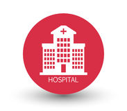 Icon hospital Stock Images