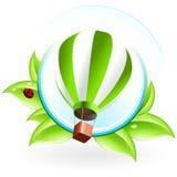 Icon with Hot Air Balloon Stock Photos