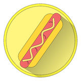Icon hot dog Raster 1 Stock Images