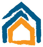 Icon of a house royalty free stock images