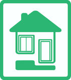Icon with house, door and window Royalty Free Stock Photography