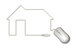 Icon house  of mouse cable. Stock Image