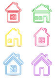 Icon houses Stock Images