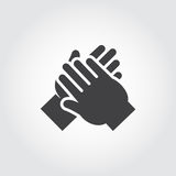 Icon of human hands applause. royalty free illustration