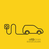 Icon of a hybrid car Stock Image