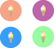 4 icon ice-cream eps 10 vector illustration