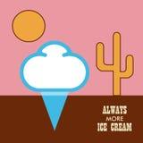 Icon ice cream  on white background Royalty Free Stock Images