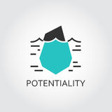 Icon of iceberg, hidden potential and opportunity stock illustration