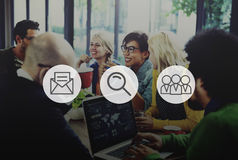 Icon Idea Ideas Digital Logotype Media Sign Brand Concept Royalty Free Stock Photos