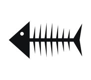 Icon illustrated fish skeleton Stock Images