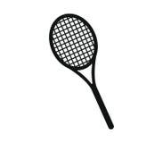 Icon illustrated tennis racket Stock Photos