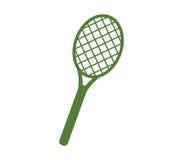 Icon illustrated tennis racket Royalty Free Stock Photos