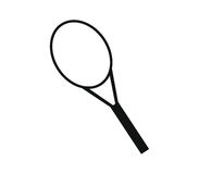 Icon illustrated tennis racket Stock Photography