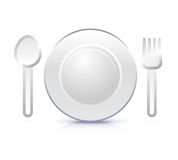 Icon illustration of plate Stock Photos