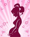 The icon is illustration of pregnant woman Stock Photography