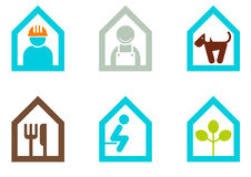 Icon illustration set with men Stock Photo