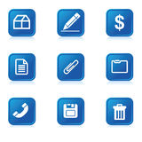 Icon illustrations Royalty Free Stock Photos