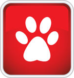 The icon with the image of an animal trail Stock Images