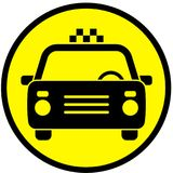 Icon with the image of a taxi car. Vector illustration Stock Photo