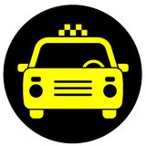 Icon with the image of a taxi car stock photography