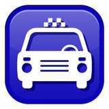 Icon with the image of a taxi car royalty free stock images