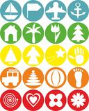 Icon. Image of various items from the children's repertoire Vector Illustration