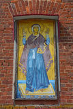 Icon Image of the Virgin wall indestructible of church of the Tikhvin Mother of God in the village of Kozlovo Royalty Free Stock Images