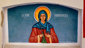 Free Icon In The Orthodox Church, Saint Parascheva, In City Brasov , Transylvania, In Wintertime. Stock Photos - 83430013
