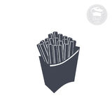 French fries. Icon indicating French fries, vector computer icon Stock Image