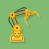 Icon of Industrial manipulator or mechanical robot arm. Royalty Free Stock Photos