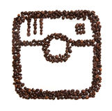 Icon of Instagram on white background Stock Image
