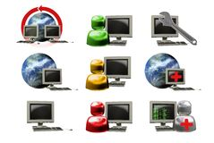Icon internet Stock Photos