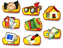 Icon - about internet - computer - business - shopping -illustration Stock Photos