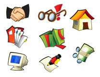 Icon - about internet - computer - business - shopping -illustration Royalty Free Stock Photo