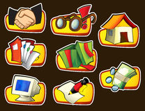 Icon - about internet - computer - business - shopping -illustration Stock Photography