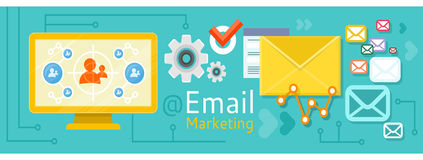Icon for internet marketing Stock Photography