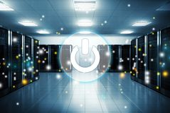 Icon. Internet provider network power on innovation Stock Images