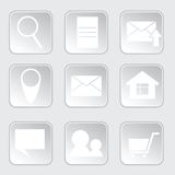 Icon for internet-shop. Square shape. use for web design Royalty Free Stock Photo