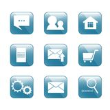 Icon for internet-shop. Square shape. use for web design Stock Photo