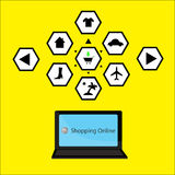Icon internet shopping Royalty Free Stock Image