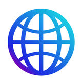 Icon internet. Symbol of the website. Globe sign. Vector Stock Photography