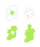 Icon of Ireland Symbols Stock Image