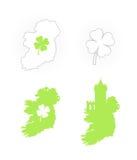 Icon of Ireland Symbols Stock Image