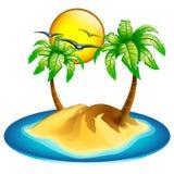 Icon island Royalty Free Stock Photo