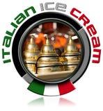 Icon Italian Ice Cream Stock Image